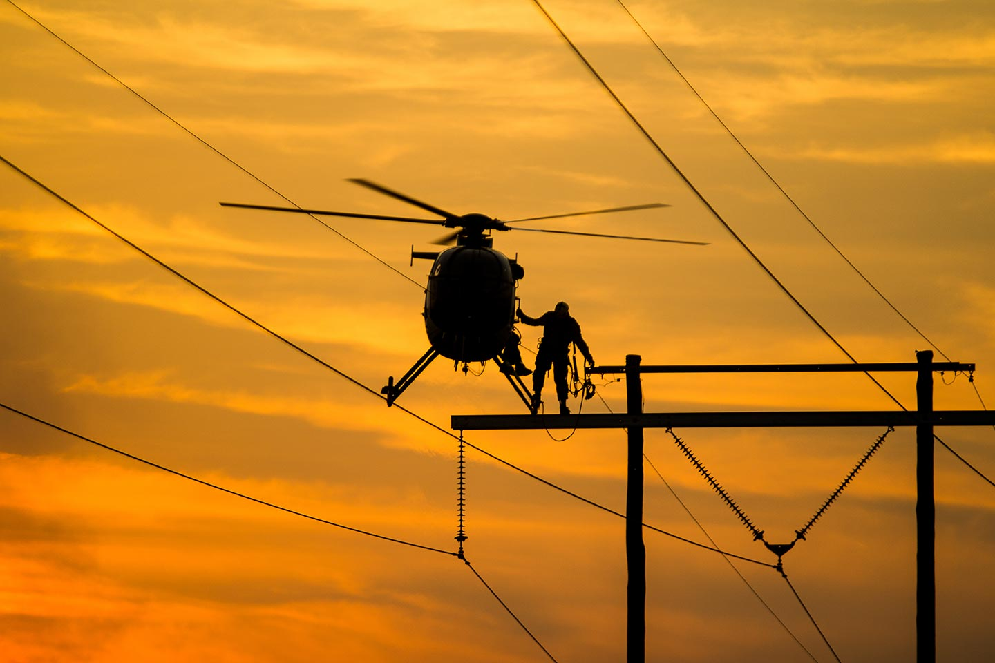 Raleigh Transmission Line Helicopter Services